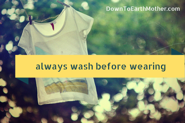wash new clothes before wearing