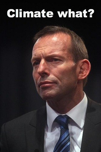 Tony abbott climate change denier