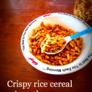 Crispy rice breakfast cereal minus the crap
