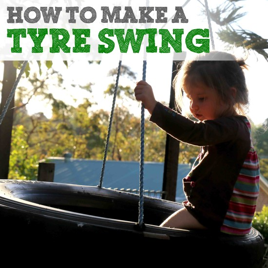 How to make a tyre swing