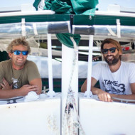 Two guys, a boat and an ocean of plastic