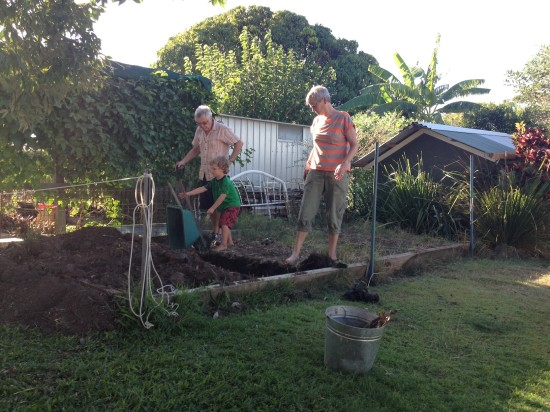 gardening with nanna and grandad
