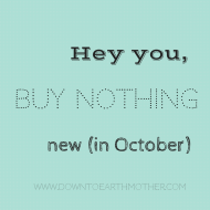 Seven tips for Buy Nothing New Month
