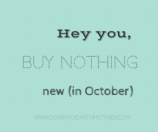 buy nothing new