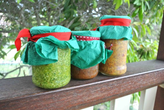 relish recipe, pesto recipe, nectarine jam recipe