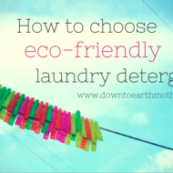 Choosing the best eco laundry detergent or powder