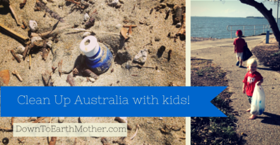 clean up Australia day with kids