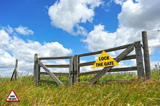 lock the gate fence